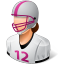 64x64px size png icon of Sport Football Player Female Light