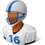 64x64px size png icon of Sport Football Player Male Dark