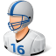 64x64px size png icon of Sport Football Player Male Light