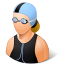 64x64px size png icon of Sport Swimmer Female Light