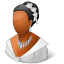 64x64px size png icon of Wedding Bride Dark