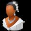 64x64px size png icon of Wedding Bride Dark