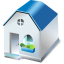 64x64px size png icon of One storied house