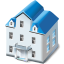 64x64px size png icon of Two storied house