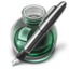 64x64px size png icon of Green w silver pen