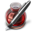 64x64px size png icon of Red Fire w silver pen