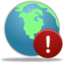64x64px size png icon of Globe Warning