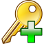 64x64px size png icon of Add key