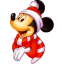 64x64px size png icon of Mickey Christmas