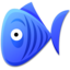 64x64px size png icon of Blue Fish