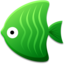 64x64px size png icon of Green Fish