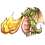 64x64px size png icon of Fire Dragon