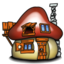 64x64px size png icon of Smurf House Exterior