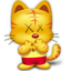 64x64px size png icon of kawscat4Qi17