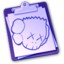 64x64px size png icon of kawsclipboardey8