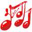64x64px size png icon of Music red