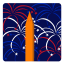 64x64px size png icon of Independence Day 4 Fireworks