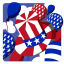 64x64px size png icon of Independence Day 5 Hat Balloons