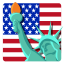 64x64px size png icon of Independence Day 7 Statue of Liberty