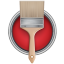 64x64px size png icon of Paint Bucket Can Brush