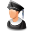 64x64px size png icon of graduated