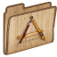 64x64px size png icon of Folder Apps
