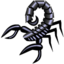 64x64px size png icon of black scorpion