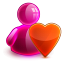 64x64px size png icon of love girl
