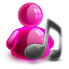 64x64px size png icon of music girl