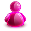 64x64px size png icon of online girl