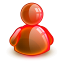 64x64px size png icon of online red