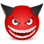 64x64px size png icon of Devil laught