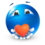 64x64px size png icon of love heart