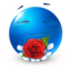 64x64px size png icon of love rose