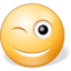 64x64px size png icon of Winking