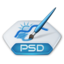 64x64px size png icon of Adobe photoshop psd
