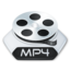 64x64px size png icon of Media video mp 4