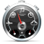 64x64px size png icon of Dashboard Black