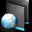 64x64px size png icon of Net Folder Black