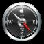 64x64px size png icon of Safari Black