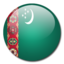 64x64px size png icon of Turkmenistan Flag