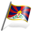 64x64px size png icon of Tibetan People Flag 3