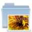 64x64px size png icon of Pictures Folder Badged