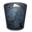 64x64px size png icon of Trash Full Onyx