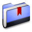 64x64px size png icon of Bookmark Blue Folder