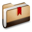 64x64px size png icon of Bookmark Brown Folder