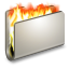 64x64px size png icon of Burn Metal Folder