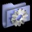 64x64px size png icon of Developer Blue Folder