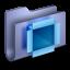 64x64px size png icon of DropBox Blue Folder