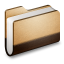 64x64px size png icon of Library Brown Folder